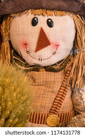 Smiling Scarecrow for Halloween and Fall Decoration