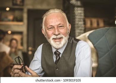 Smiling senior businessmen. Portrait.