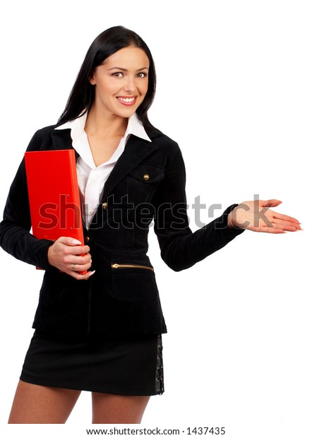 Smiling successful business woman