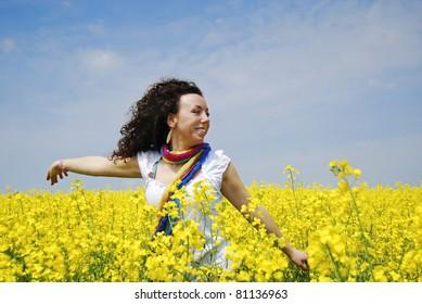 smiling summertime girl