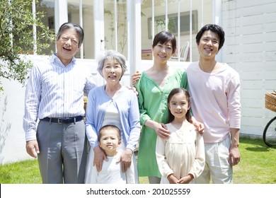 smiling three generations