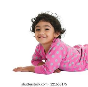 Smiling Toddler Girl, Isolated, White