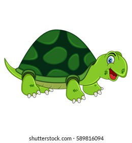 Smiling Turtle Cartoon