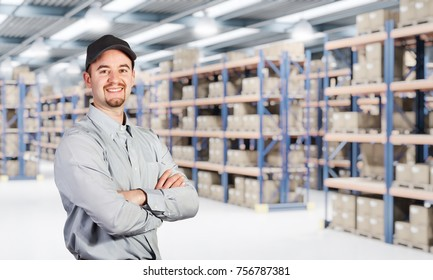 smiling worker iand classic warehouse