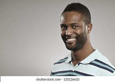 Smiling Young African American Man