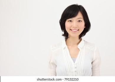 Smiling young Asian women