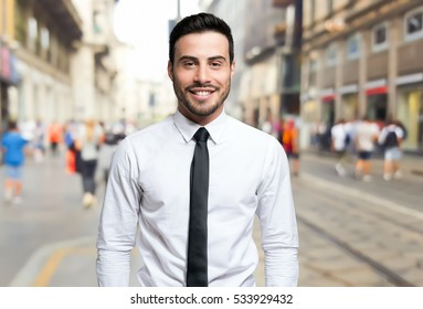Smiling young businessman portrait