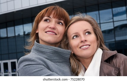 Smiling young girls