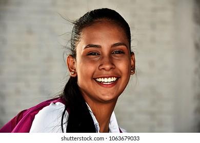 Smiling Youthful School Girl Teenager
