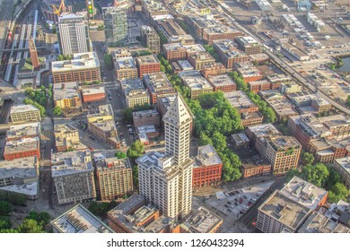 Smith Tower from Above