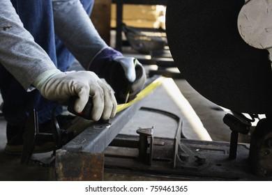 smith Welded steel works  Steel welding   Close up background