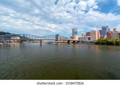 Smithfield Bridge and Adjacent Cityscape of Downtown Pittsburgh, Pennsylvania