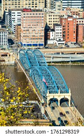 Smithfield Street Bridge across the Monongahela River in Pittsburgh - Pennsylvania, United States