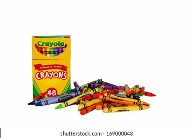 SMITHSBURG, MD - DECEMBER 29, 2013: Image of Crayola Crayons.  Crayola products are non-toxic and safe for children.