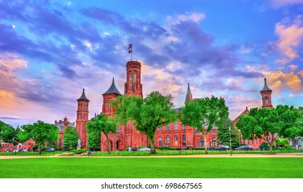 The Smithsonian Castle in Washington, D.C. United States