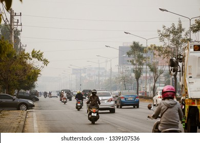 Smog and dust situation in Chiang Mai, thailand during February, February 15, 2019 at 8 am in in PM 2.5 is over 300. Very dangerous to the people of Chiang Mai Must hurry to take urgent action.
