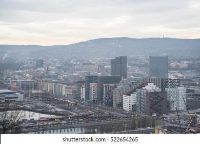 Smoggy Foggy Oslo, Norway