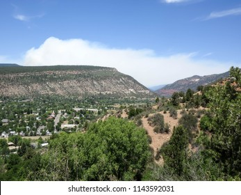 Smoke from the 416 forest fire in the Animas valley in Durango, Colorado