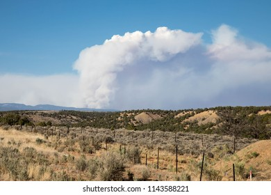 Smoke from the 416 forest fire in Colorado