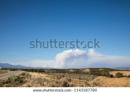 Smoke 416 Forest Fire Colorado Stock Photo (Edit Now) 1143587780