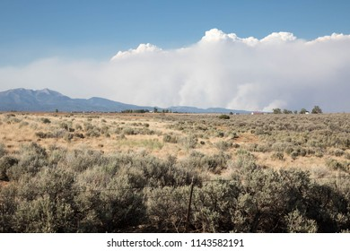 Smoke from the 416 forest fire in Durango, Colorado