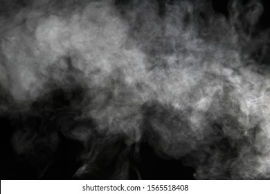 Smoke abstract in black and white