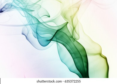 Smoke abstract design / Smoke is a collection of airborne solid and liquid particulates and gases emitted when a material undergoes combustion