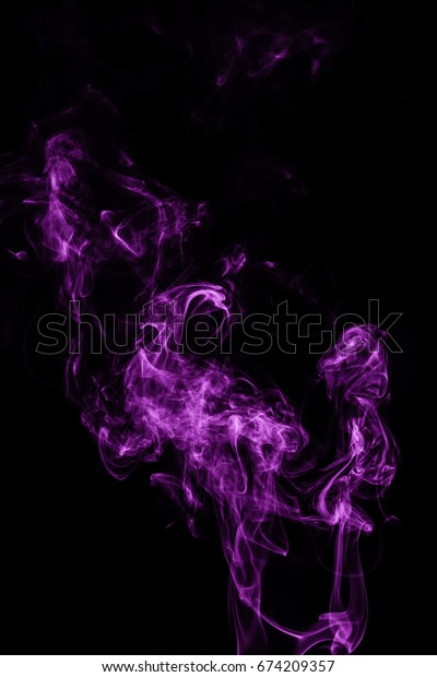 Smoke abstract on a black background