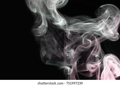 Smoke abstract as wallpaper / Smoke is a collection of airborne solid and liquid particulates and gases emitted when a material undergoes combustion