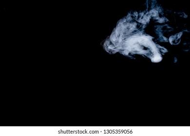 smoke blur on black blackground