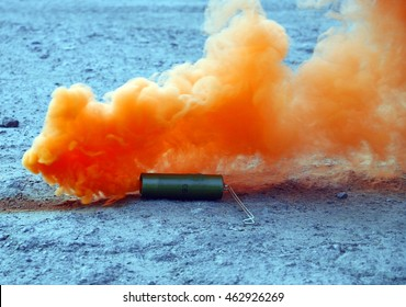 smoke bombs lying on the ground for your design