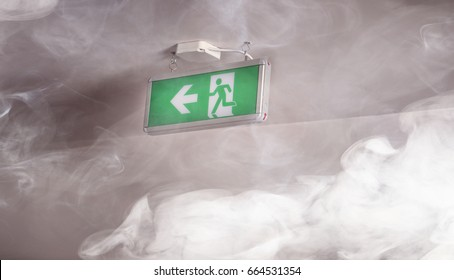 Smoke in the building and escape route