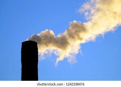 smoke of a chimney