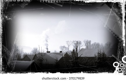 smoke from the chimney,old photo