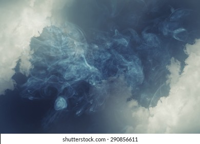 smoke and cloud.Artistic abstraction composed of nebulous