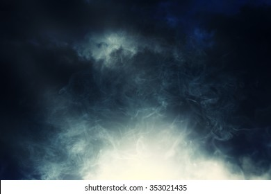 smoke and cloud.Artistic abstraction composed of nebulous, abstract background