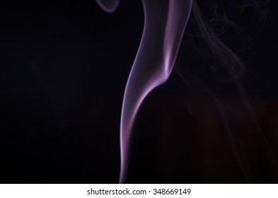 Smoke colors and shapes. Purple.