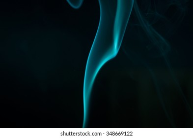 Smoke colors and shapes. Turquoise