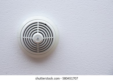 Smoke detector fire alarm on celling