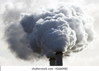 Smoke emission from factory pipes