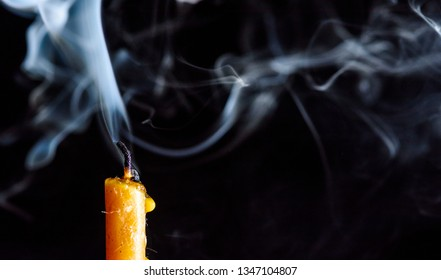 Smoke from the Candles Images, Stock Photos & Vectors
