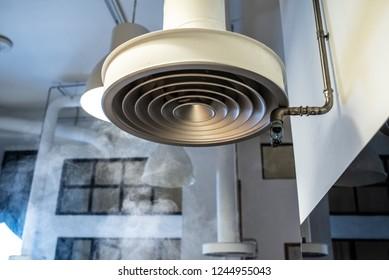 smoke extractor hood in an industrial kitchen.