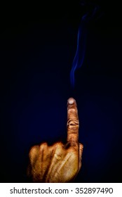 Smoke from fingers