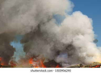 smoke fire background barn explosion flame heat danger destruction disaster