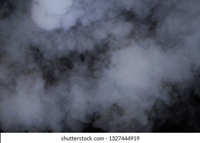 smoke flow on black background
