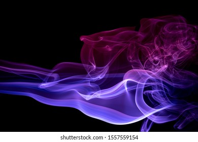 Smoke flowers colorful for background