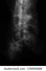smoke fog on black background