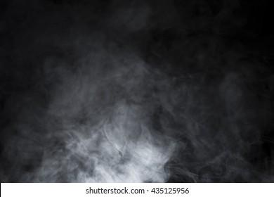 Smoke and Fog on Black Background