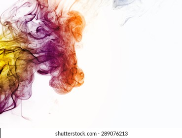 smoke image of horse on white background