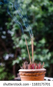 Smoke from incense burns was to faith.belief in Buddhism
